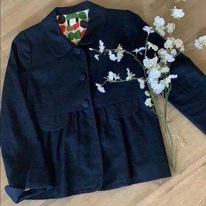 A Darling J. Crew Ottoman Molly Jacket In Navy